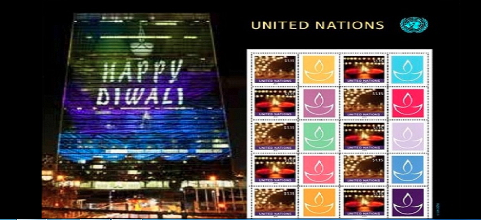 United Nations postage stamps on Diwali